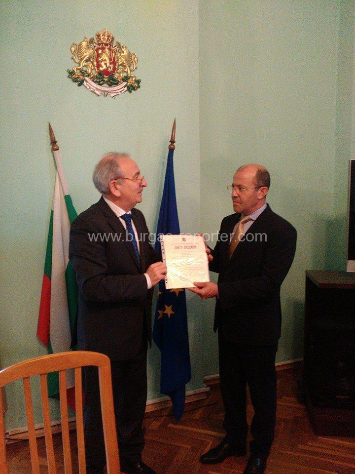 Кметът на Приморско получи благодарствено писмо от украинския Министър на социалната политика